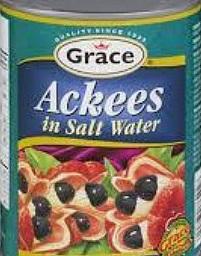 ackee in salt water